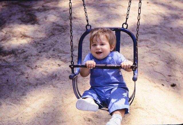 Brad fun on swing Blytheville 1966 copy